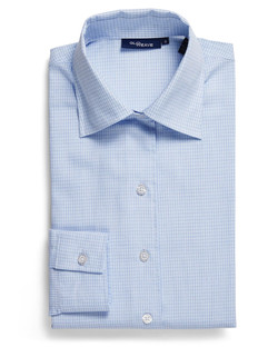 Ladies 1295WL Textured Yarn Shirt Blue