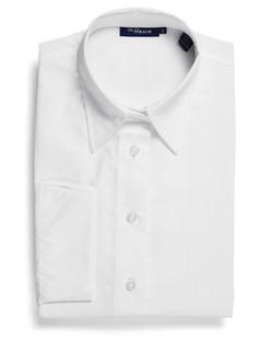Ladies 1251WL LS Square Dobby Shirt White