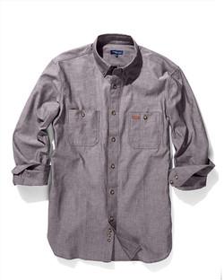 Mens 5045LN Iconic Chambray Industrial Shirt Black A