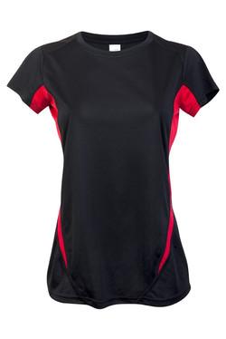 Ramo T447LD Ladies Accelerator Tee Black_Red