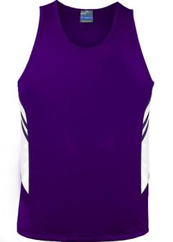AP 1111 Mens Tasman Singlet Purple-White.jpg