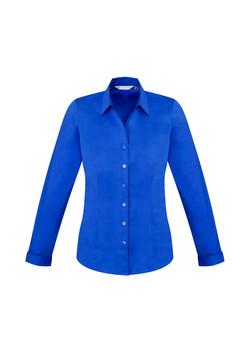 Biz S770LL Ladies LS Monaco Shirt ElectricBlue