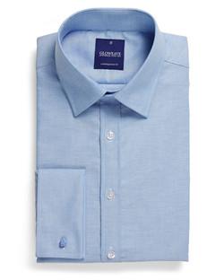 Mens 1716L LS Oxford Weave Shirt Blue