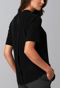 Ladies 1720WS Polyester Georgette Shirt Black A