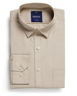 Mens 1267HL LS Puppy Tooth Check Hospitality Shirt Taupe