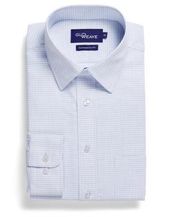 Mens 1295L LS Textured Yarn Shirt White