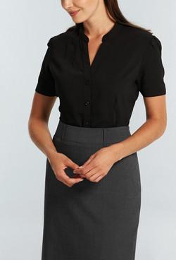 Ladies 1583WS 100% Plain Polyester Shirt Black A