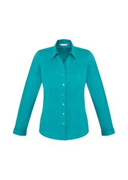 Biz S770LL Ladies LS Monaco Shirt Teal