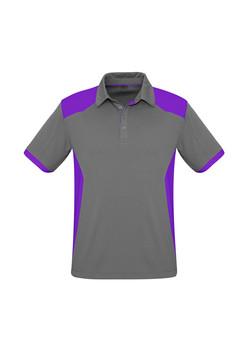 Biz P705MS Mens Rival Polo Shirt Silver_Purple