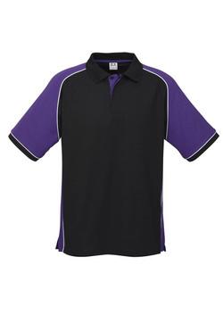 p10112 Mens Nitro Polo Black-Purple-White