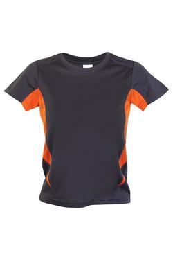 Ramo T307KS Kids Accelerator Tee Charcoal_Orange