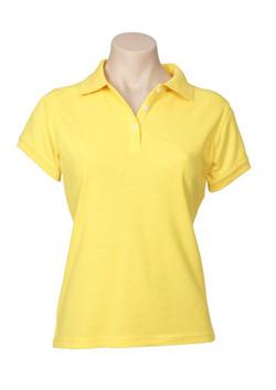 p2125 Ladies Neon Polo Yellow