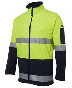6D4LJ Hi Vis Softshell Jacket Lime-Navy