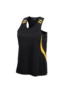 Biz LV3125 Ladies Flash Singlet Black-Gold