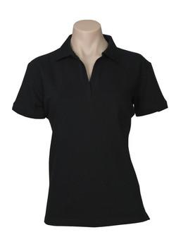 p9025 Ladies Oceana Polo Black