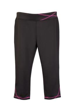 S505LD Ladies Contrast Stitch Legging Black_Hot Pink.jpg