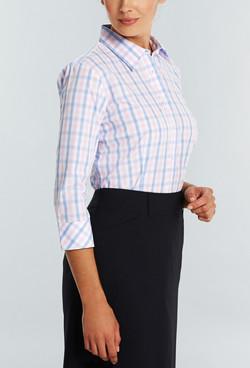 Ladies 1711WL Soft Tonal Check Shirt Pink A