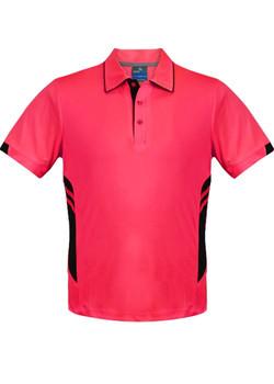 AP 1311 Mens Tasman Polo Neon Pink-Black