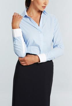 Ladies 1376WYL LS Bold Stripe Y Shirt Blue A