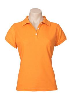 p2125 Ladies Neon Polo Orange