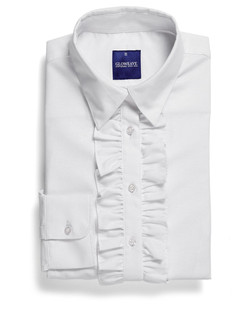 Ladies 1716WL LS Oxford Weave Shirt White
