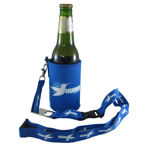 Cooler with Lanyard & Stubby Opener