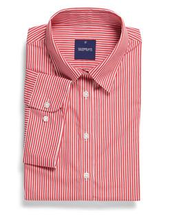Ladies 1376WS SS Bold Stripe Shirt Red