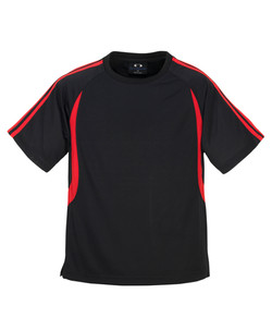T3110 T3110B Mens and Kids Flash Tee Black_Red