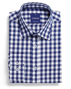 Mens 1710L LS Royal Oxford Gingham Shirt Navy