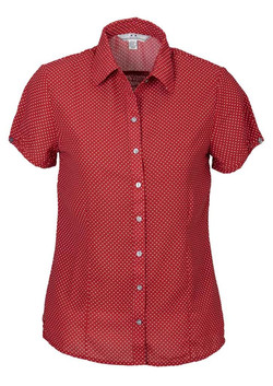 Ruby Blouse Red-White