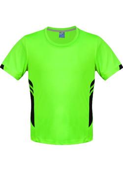 AP 1211 Mens Tasman Tshirt Fluro Green-Black