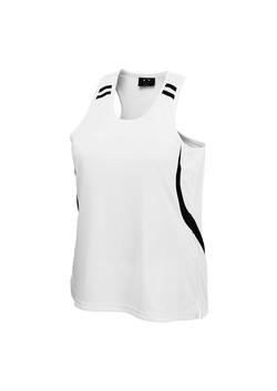 Biz LV3125 Ladies Flash Singlet White-Black
