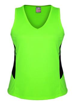 AP 2111 Ladies Tasman Singlet Fluro Green-Black.jpg