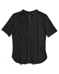 Ladies 1720WS Polyester Georgette Shirt Black