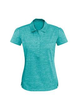 Biz P608LS Ladies Coast Polo Turquoise Blue