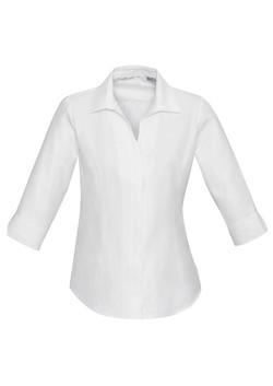S312LT Ladies 3-4 Sleeve White