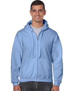 18600 Adult Full Zip Hooded Sweatshirt Front