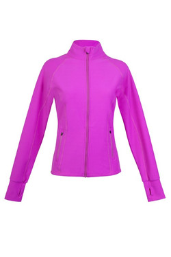 J480LD Ladies AVA NylonSpandex Jacket Hot Pink.jpg