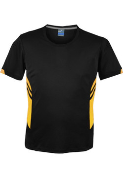AP 1211 Mens Tasman Tshirt Black-Gold