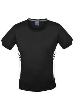 AP 1211 Mens Tasman Tshirt Black-White