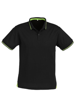 p226ms Mens Jet Polo Black-Bright Green