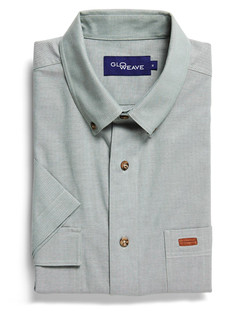 Mens 5095S SS Iconic Chambray Industrial Shirt Green