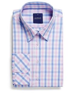 Ladies 1711WL Soft Tonal Check Shirt Pink