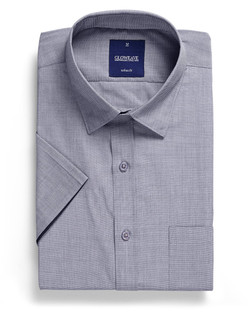 Mens 1253HS SS End on End Hospitality Shirt Silver