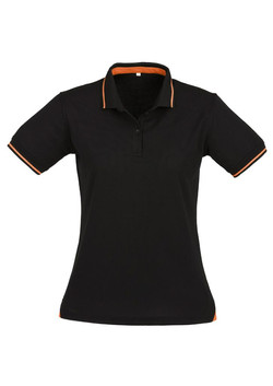 p226ls Ladies Jet Polo Black-Orange