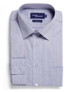 Mens 1069L LS Yarn Dyed Herringbone Shirt Silver