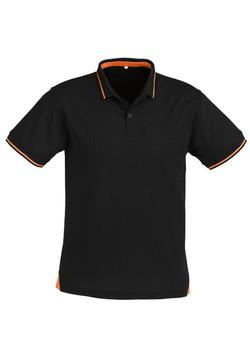 p226ms Mens Jet Polo Black-Orange