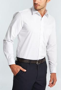 Mens 1251L LS Square Dobby Shirt Silver A