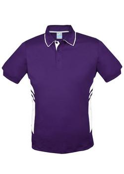 AP 1311 Mens Tasman Polo Purple-White