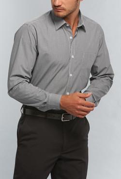 Mens 1376L LS Bold Stripe Shirt Black A